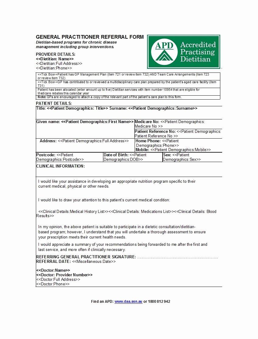 Physician Referral form Template Unique 50 Referral form Templates [medical & General] Template Lab