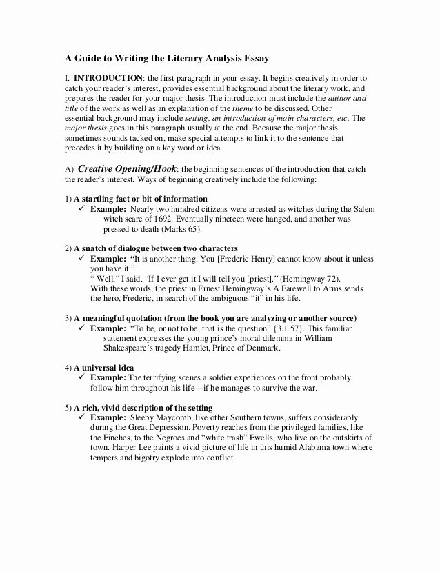 Picture Book Analysis Essay Luxury A Guide to Writing the Literary Analysis Essay