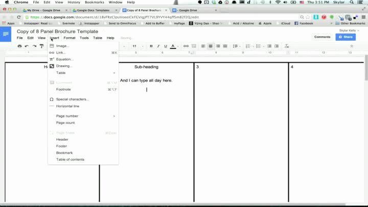 Picture Book Template Google Docs Elegant 6 Panel Brochure Template Google Docs