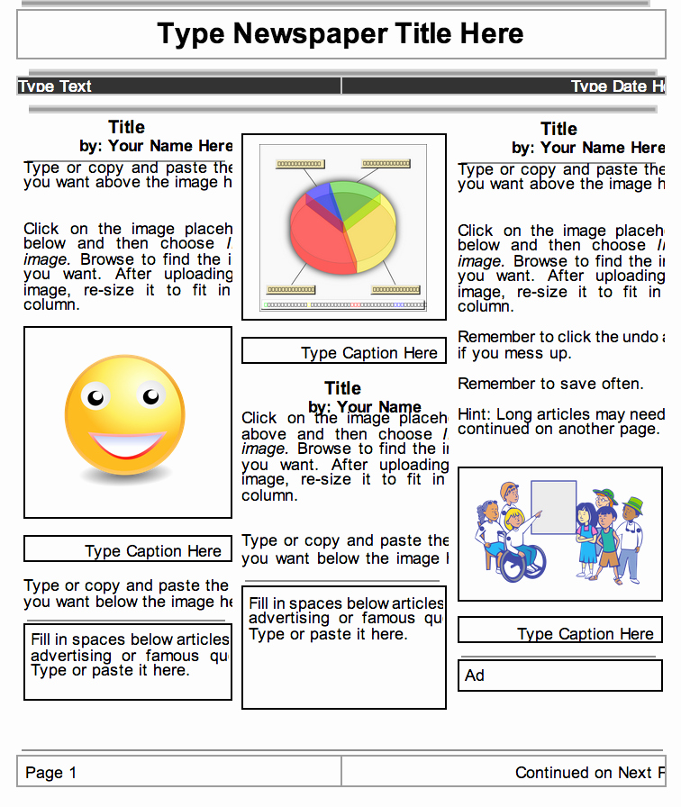 Picture Book Template Google Docs Lovely Google Docs Newspaper Template