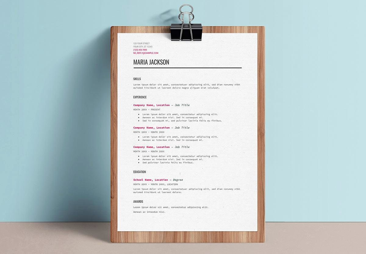 Picture Book Template Google Docs New Google Docs Resume Templates 10 Examples to Download