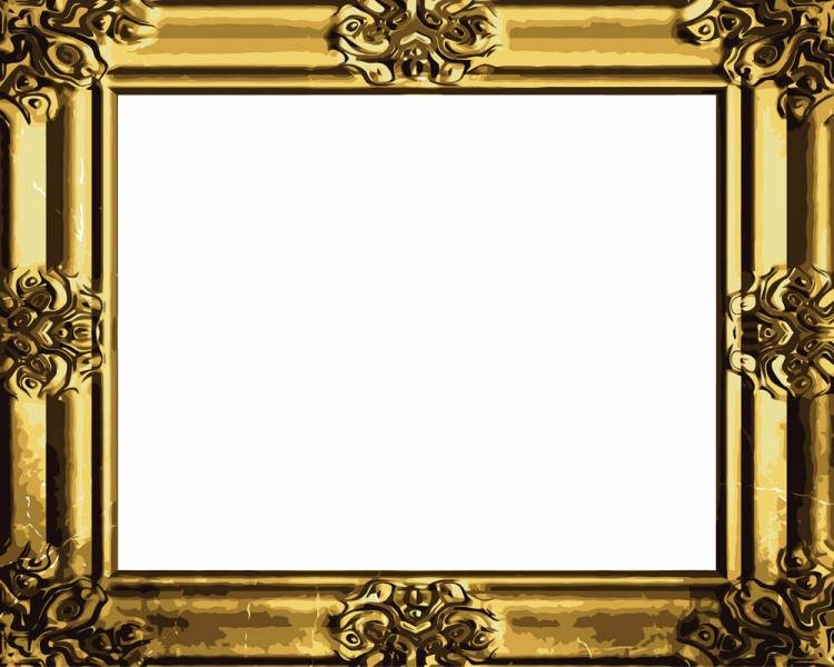 Picture Frame Vector Awesome Antique Gold Frame 04 Vector Free Vector 4vector