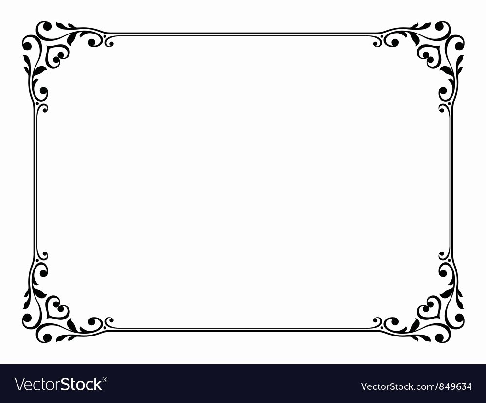 Picture Frame Vector Awesome Calligraphy Frame Royalty Free Vector Image Vectorstock
