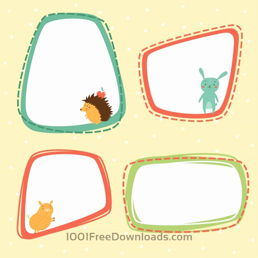 Picture Frame Vector Beautiful Free Vectors Cute Frames Vector Set