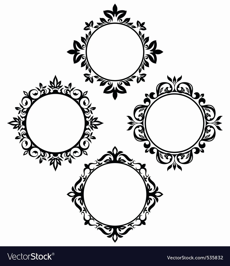 Picture Frame Vector Best Of Circle Frames Royalty Free Vector Image Vectorstock