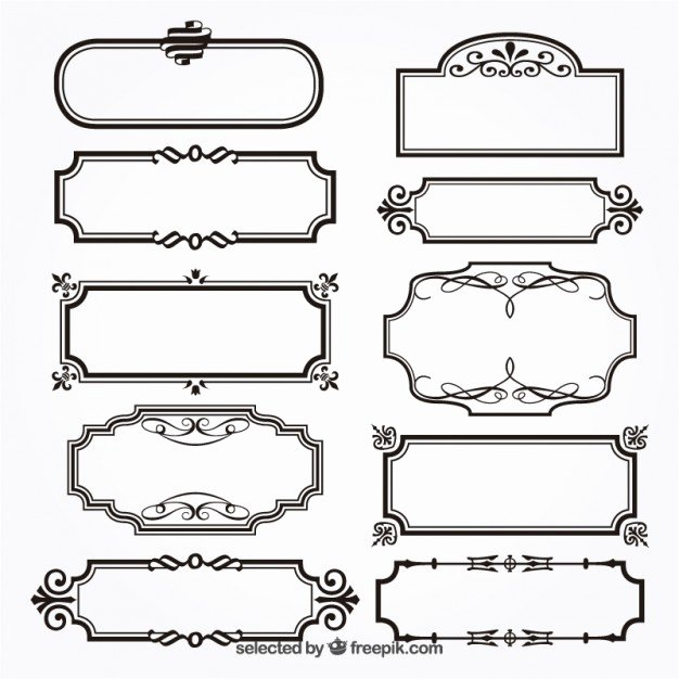 Picture Frame Vector Best Of ornamental Frames Vector