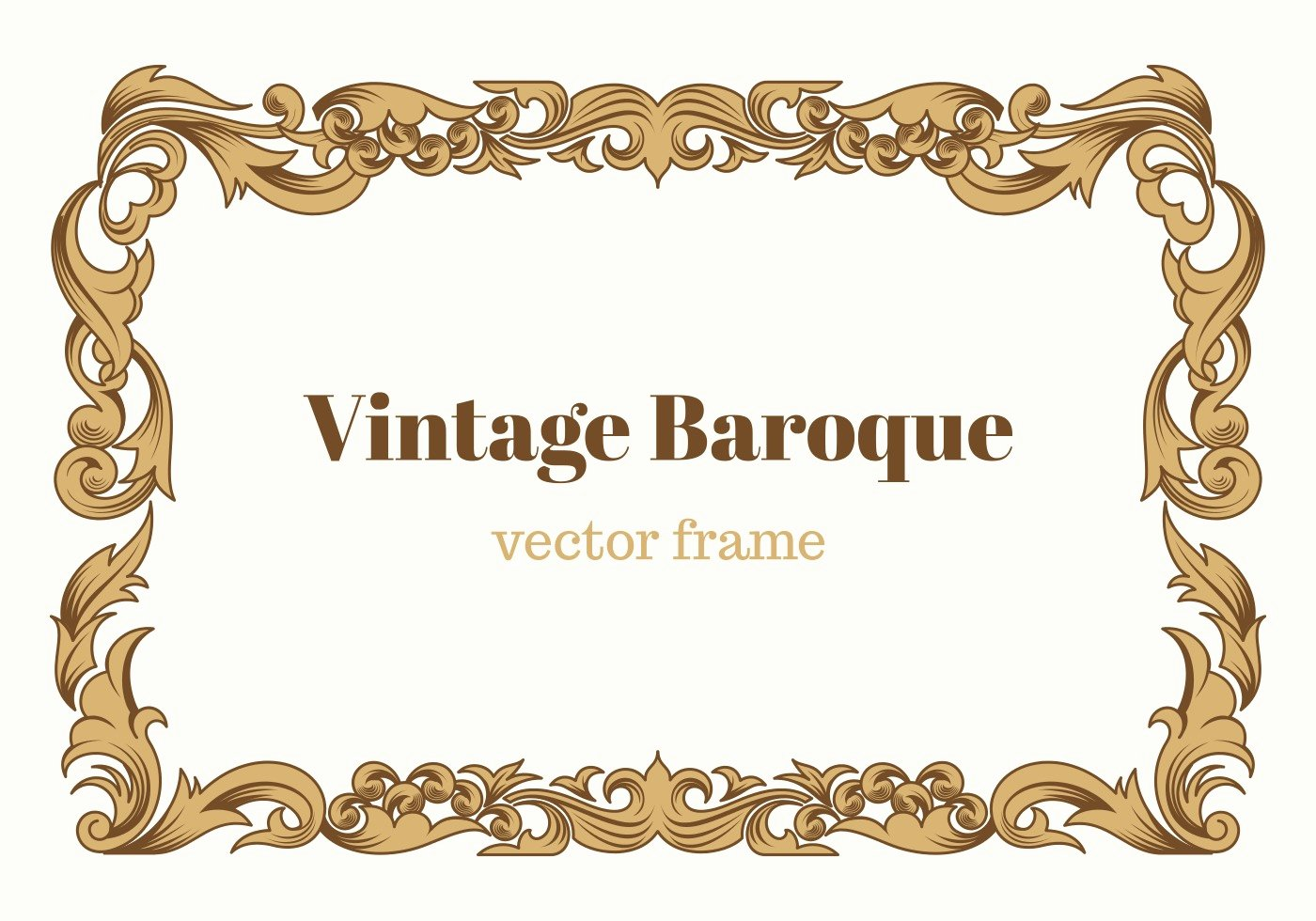 Picture Frame Vector Best Of Vintage Baroque Vector Frame Download Free Vector Art