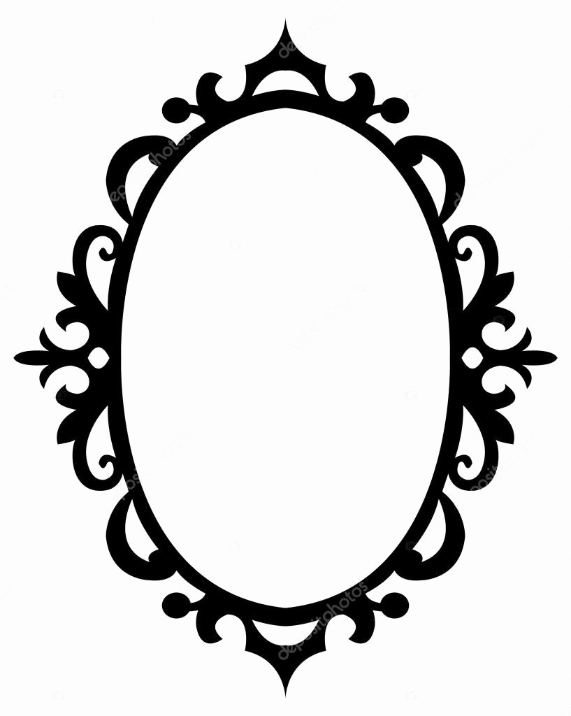 Picture Frame Vector Elegant Oval Floral Decorative Frame — Stock Vector © Familyf