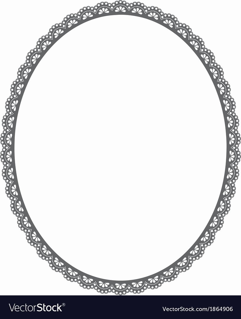Picture Frame Vector Elegant Oval Frame On White Background Royalty Free Vector Image