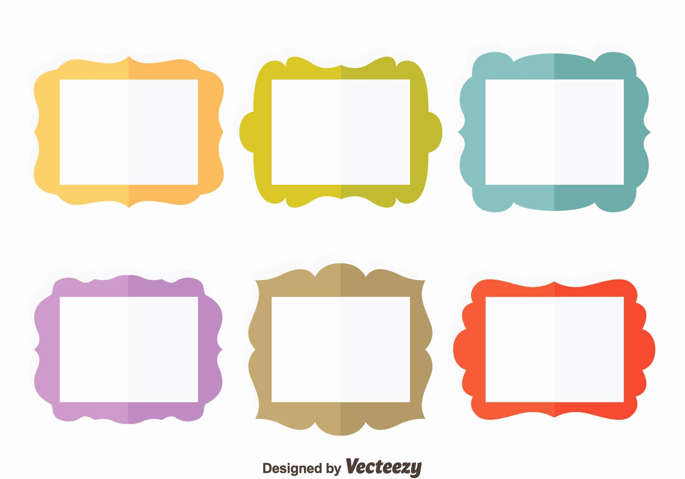 Picture Frame Vector Luxury Colorful Flat Frame Vector Set Download Free Vector Art