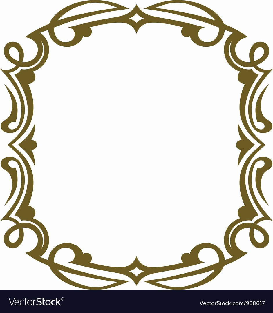 Picture Frame Vector Unique Frame Design Royalty Free Vector Image Vectorstock