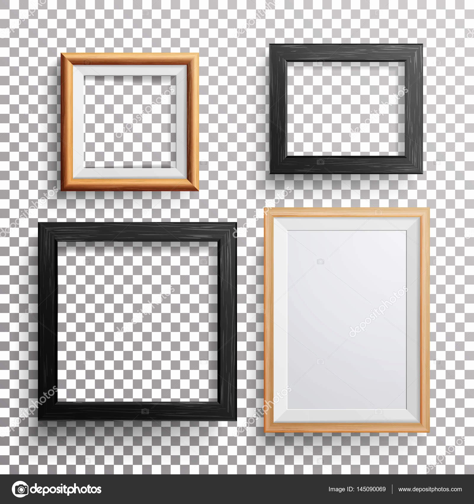Picture Frame Vector Unique Realistic Frame Vector 3d Set Square A3 A4 Sizes