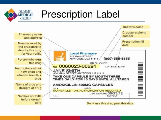 Pill Bottle Label Template Awesome Prescription Bottle Label Template