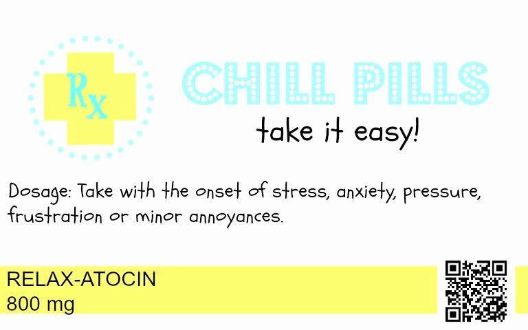 Pill Bottle Label Template Elegant Free Printable Chill Pills Label