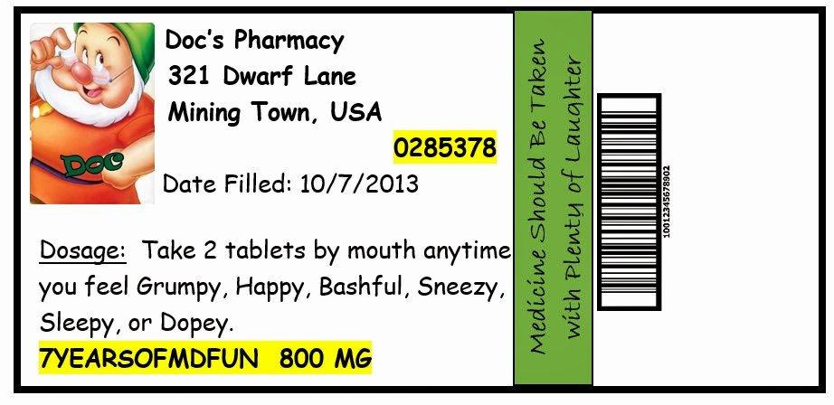 Pill Bottle Label Template Elegant Invite and Delight October 2013