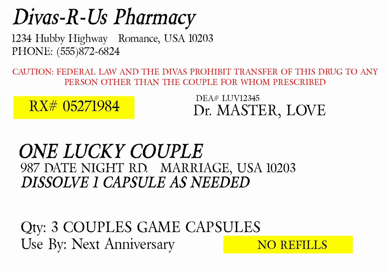 Pill Bottle Label Template Lovely Fake Prescription Generator – Emmamcintyrephotography