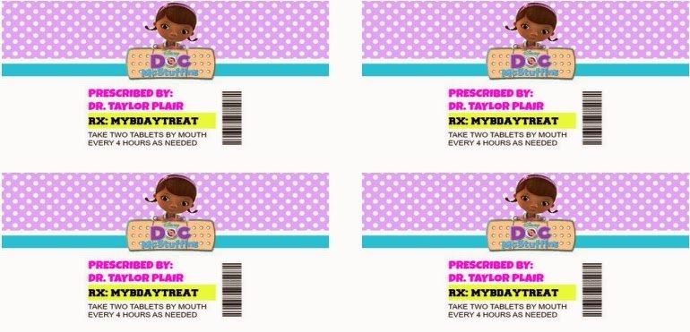 Pill Bottle Label Template Luxury Doc Mcstuffins Pill Bottle Instructions
