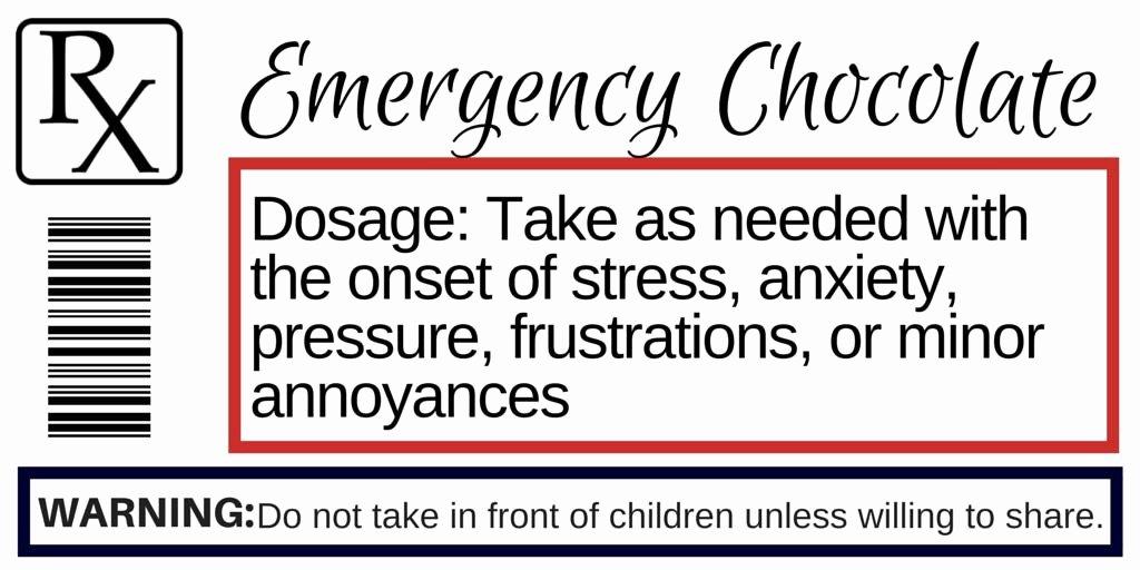 Pill Bottle Label Template Luxury Prescription Label for Emergency Chocolate