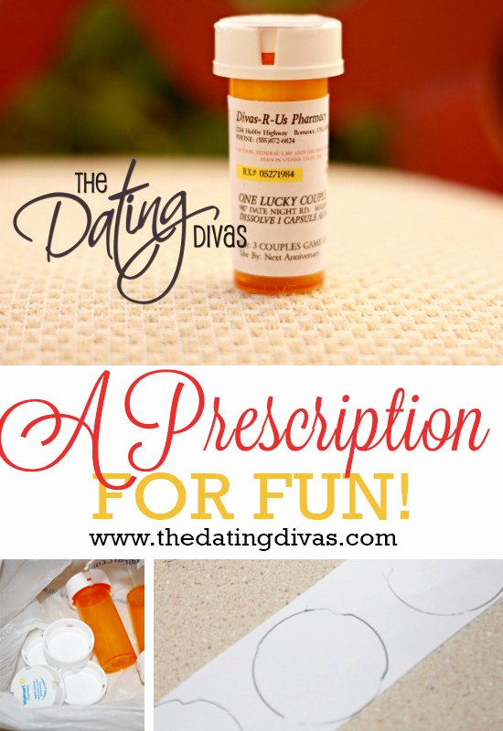 Pill Bottle Labels Template Beautiful Prescription for Fun A Free Printable Romance Idea