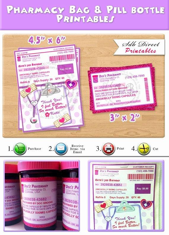 Pill Bottle Labels Template Best Of Prescription Labels Pill Bottle Labels Pharmacy Bag