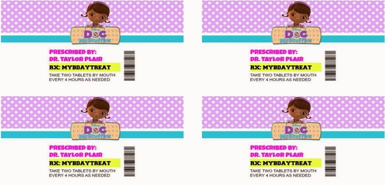 Pill Bottle Labels Template New Doc Mcstuffins Pill Bottle Instructions