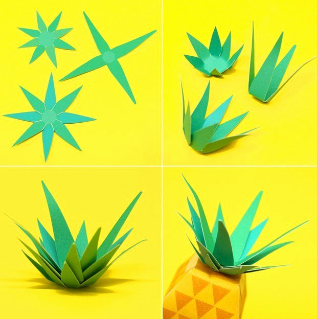 Pineapple Leaf Template Elegant Diy Fruity Maracas Create Maracas with Diy Instruction