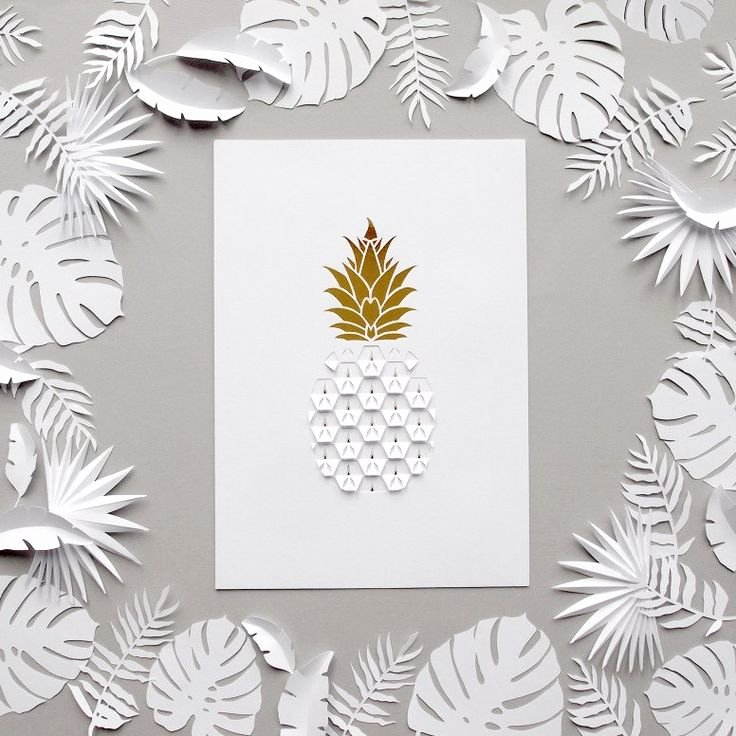 Pineapple Leaves Template Beautiful 1000 Ideas About Paper Leaves On Pinterest
