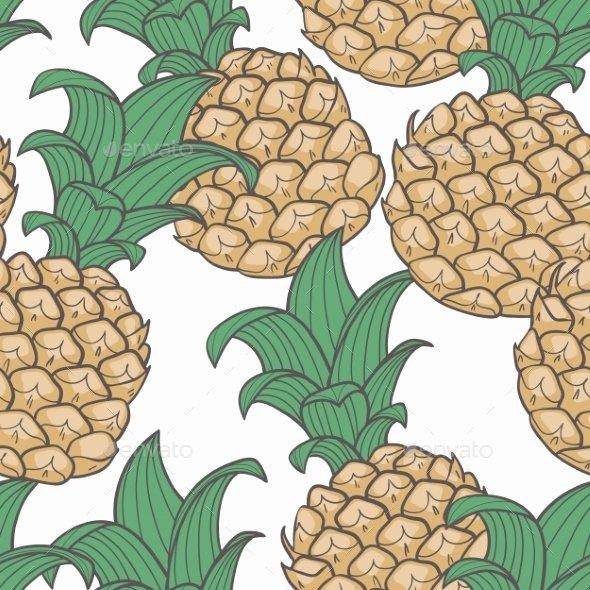 Pineapple Leaves Template Elegant Pineapple Leaf Pattern Dondrup