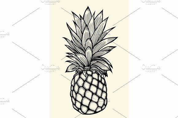 Pineapple Leaves Template Elegant Pineapple Leaf Template Designtube Creative Design Content