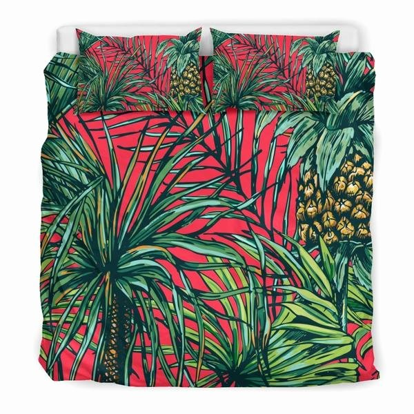 Pineapple Leaves Template Fresh Pineapple Leaves Hawaii Pattern Print Duvet Cover Bedding