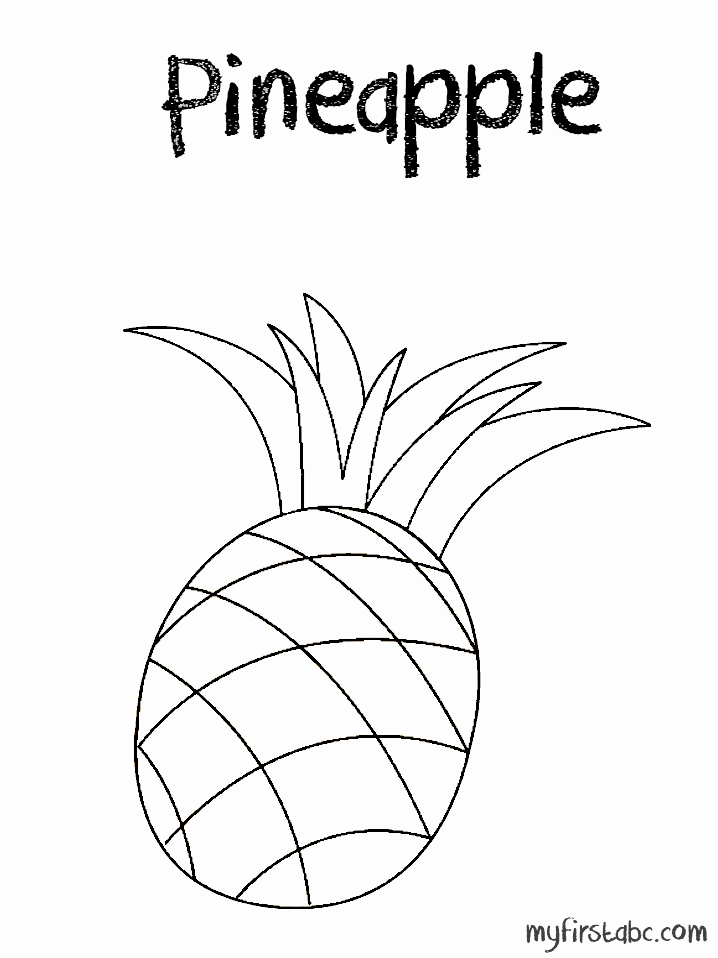 Pineapple Template Printable Beautiful Pineapple Coloring Page Sketch Coloring Page
