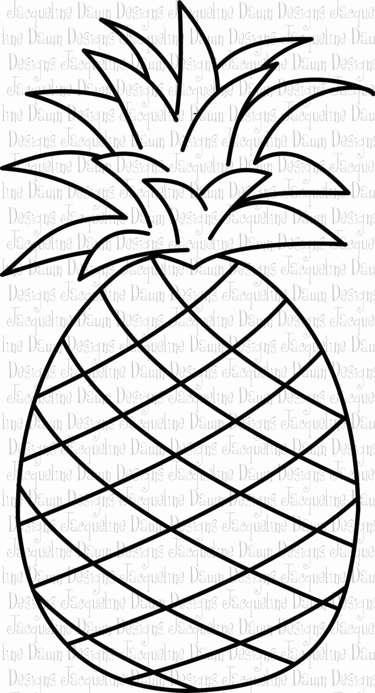 Pineapple Template Printable Best Of Printable Pineapple Template Outline