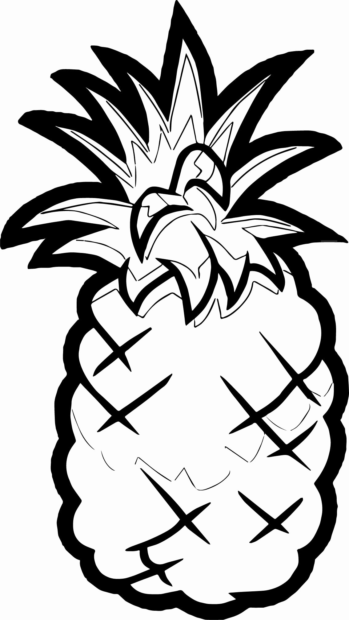 Pineapple Template Printable Elegant Pineapple Coloring Page Fruit Fruits Pages Grig3