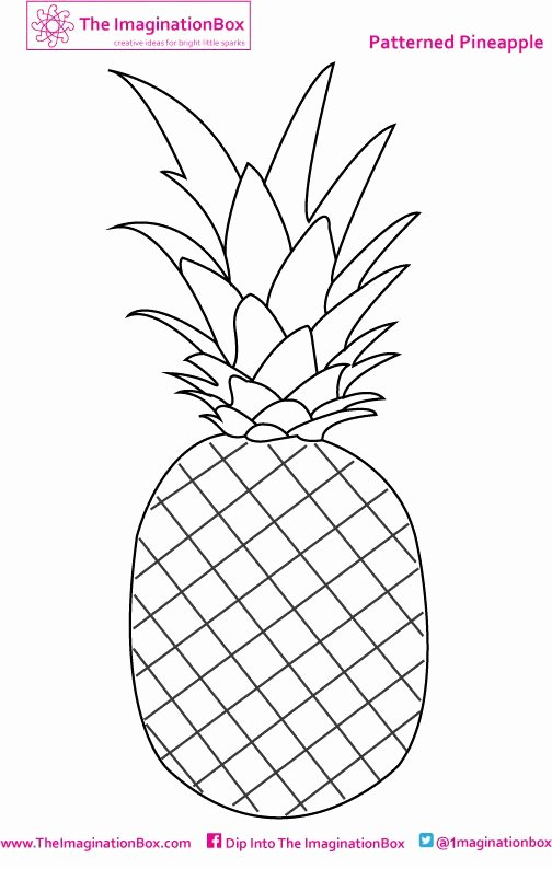Pineapple Template Printable Inspirational Best 25 Pineapple Template Ideas On Pinterest