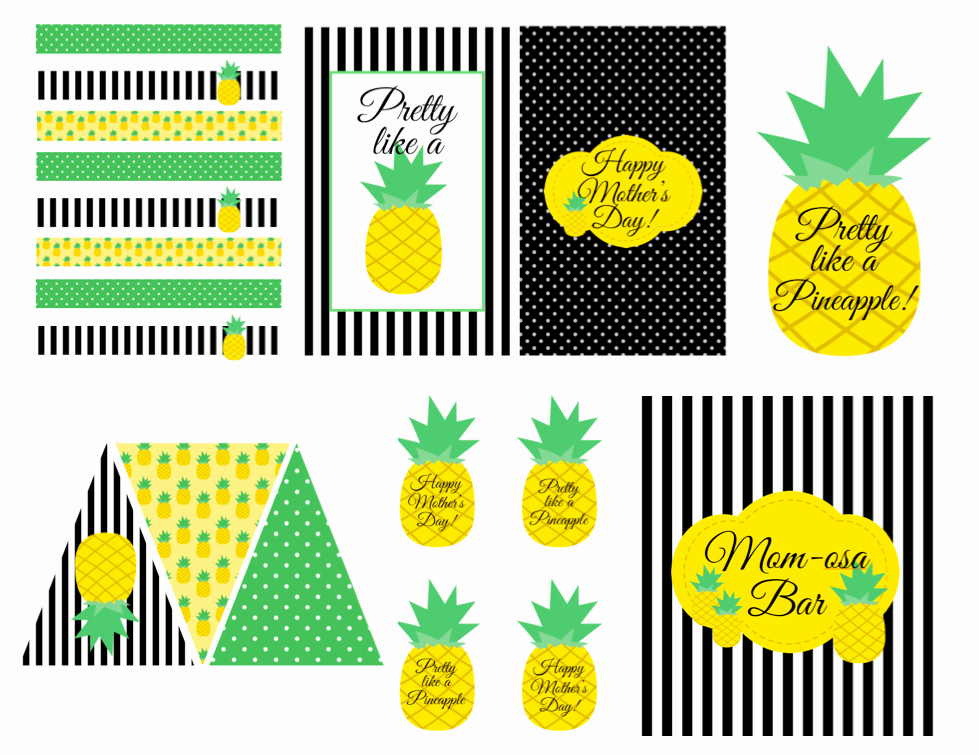 Pineapple Template Printable Inspirational Free Pineapple themed Printables In 2019