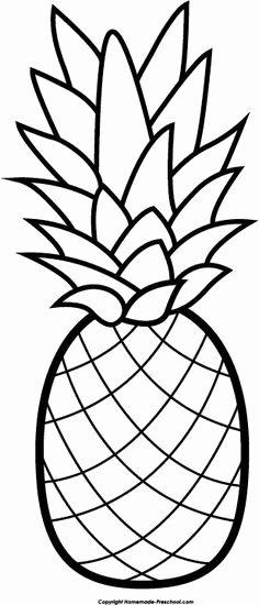 Pineapple Template Printable Inspirational Pineapple Pattern Use the Printable Outline for Crafts