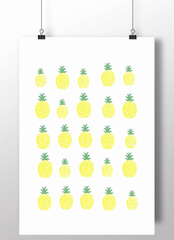 Pineapple Template Printable Inspirational Pineapple Printable Pineapple Pattern Instant by