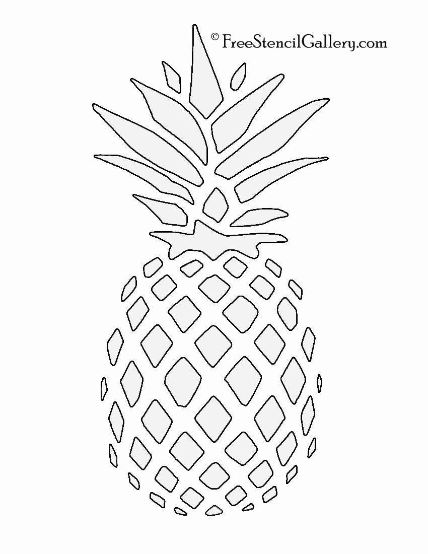 Pineapple Template Printable Inspirational Pineapple Stencil