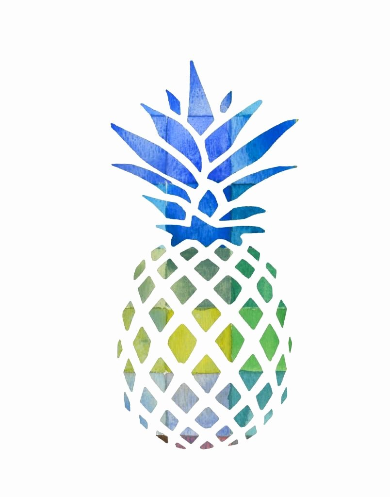 Pineapple Template Printable Unique Free Pineapple Printable