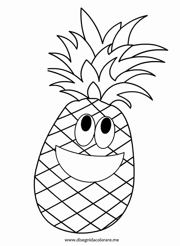 Pineapple Template Printable Unique Pineapple Coloring Page Food Clipart & Templates