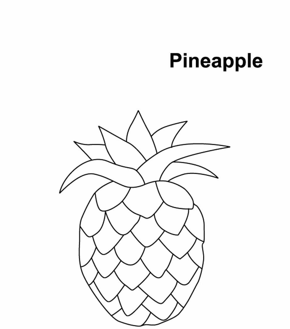 Pineapple Template Printable Unique Pineapple Coloring Pages