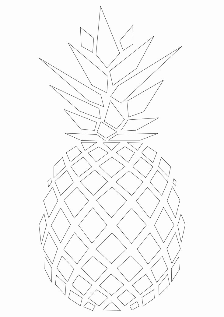 Pineapple Template Printable Unique the 25 Best Pineapple Template Ideas On Pinterest