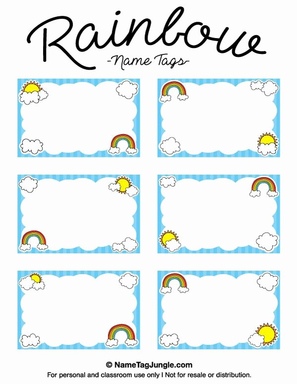 Place Card Template 6 Per Sheet Awesome the 25 Best Name Tag Templates Ideas On Pinterest