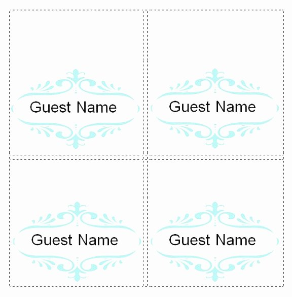 Place Card Template 6 Per Sheet Beautiful 5 Template for Place Cards 6 Per Sheet Oetao