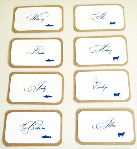 Place Card Template Word 6 Per Sheet Awesome Diy Printable Place Cards with Meal Preference