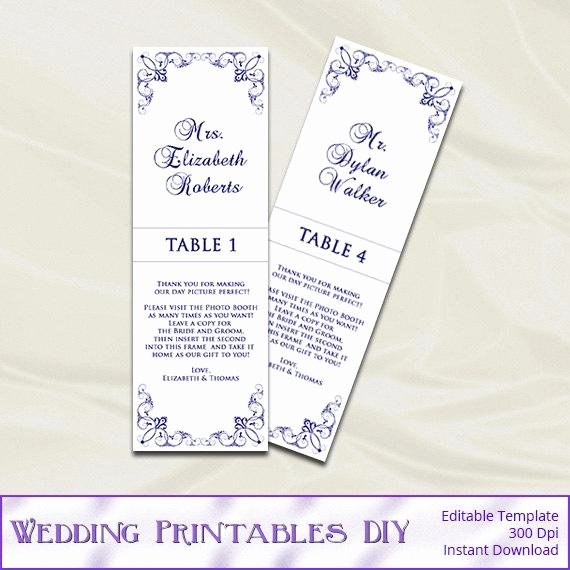 Place Card Template Word 6 Per Sheet Best Of Navy Wedding Booth Place Cards by Weddingprintablesdiy
