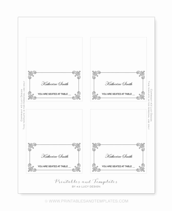 Place Card Template Word 6 Per Sheet Luxury Place Card Template 6 Per Sheet Icebergcoworking
