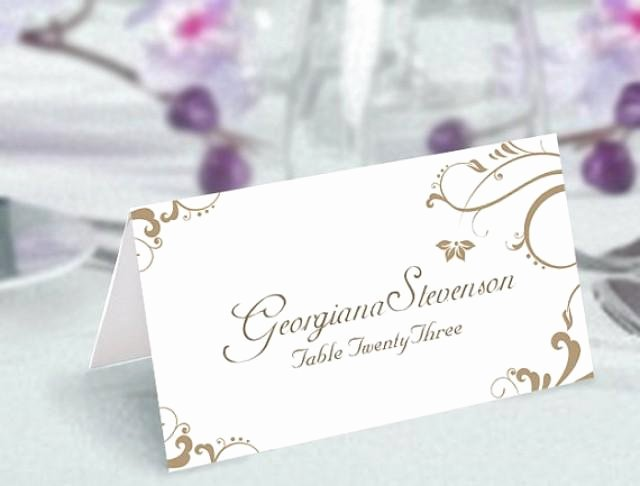 Place Card Template Word 6 Per Sheet New Place Cards Wedding Place Card Template Diy Editable