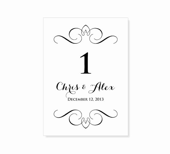 Place Cards Template 6 Per Sheet Best Of Instant Download Wedding Table Number Template by 43lucy