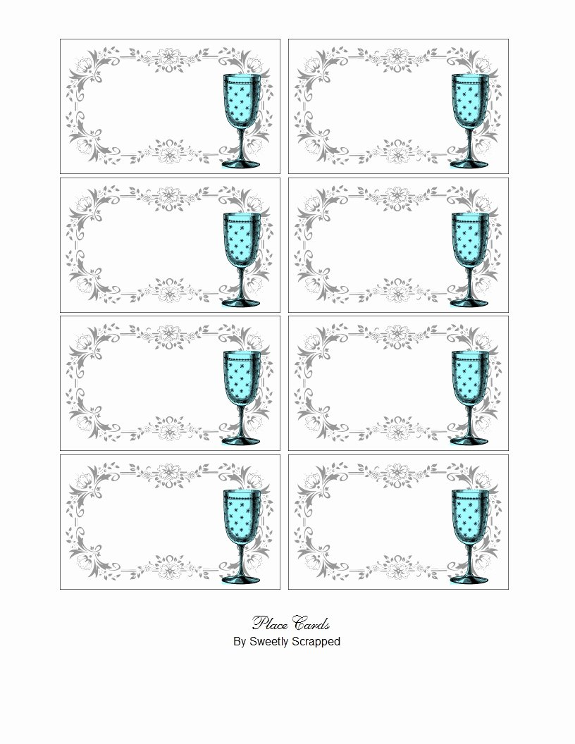 Place Cards Template 6 Per Sheet Lovely Free Printable Place Setting Template